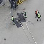 Dockarbeiter lösen Die Leinen der Color Fantasie