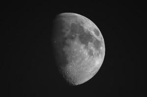 kein Hirsch in Sicht, also wird der Mond fotografiert